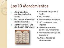 Cuales son los 10 mandamientos